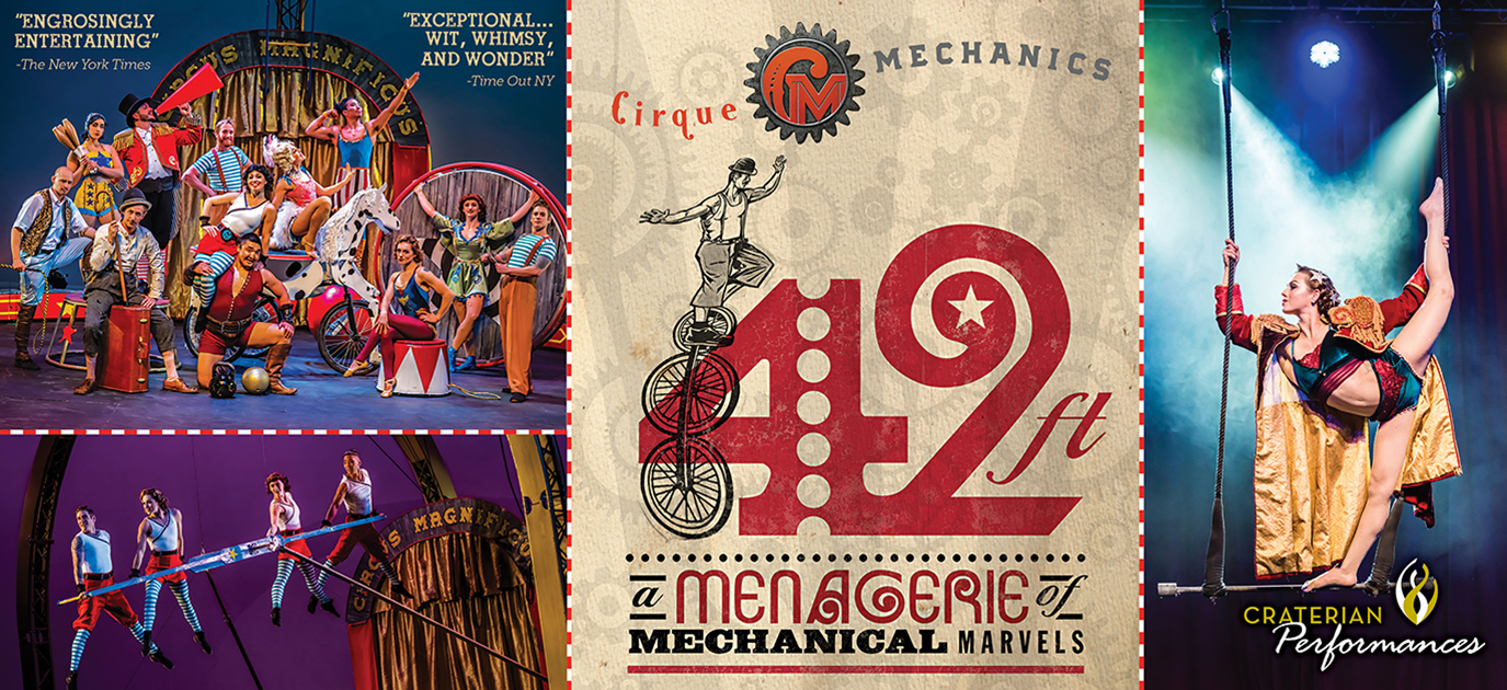 Cirque Mechanics, 42ft. – A Menagerie of Mechanical Marvels